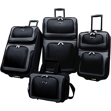 U.S.® Traveler US6300 New Yorker 4-Piece Luggage Sets