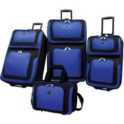 U.S.® Traveler US6300 New Yorker 4-Piece Luggage Set, Blue