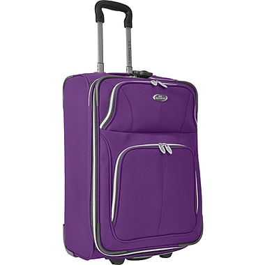 U.S.® Traveler US7200 Segovia 22in. Expandable Luggage Suitcase, Lavender