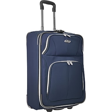 U.S.® Traveler US7200 Segovia 22in. Expandable Luggage Suitcase, Navy