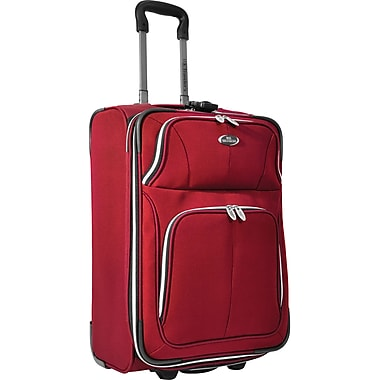 U.S.® Traveler US7200 Segovia 22in. Expandable Luggage Suitcase, Red