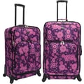U.S.® Traveler US7401 Fashion 2-Piece Spinner Luggage Set, Purple Polka Dot
