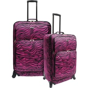 U.S.® Traveler US7401 Fashion 2-Piece Spinner Luggage Set, Pink Zebra