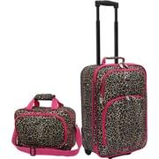 U.S.® Traveler US7402 Fashion 2-Piece Carry-On Luggage Set, Leopard