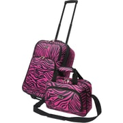 U.S.® Traveler US7402 Fashion 2-Piece Carry-On Luggage Set, Pink Zebra