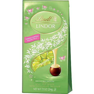 Lindt LINDOR Spring Chocolate Truffles, Milk & White Chocolate, 7.2 oz., 3 Bags/Box