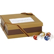 Lindt LINDOR Chocolate Truffles Expressions Gift Box, Congratulations, 75 Truffles/Box