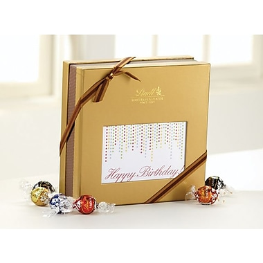 Lindt LINDOR Expressions Gift Box, Happy Birthday, 75 Truffles/Box