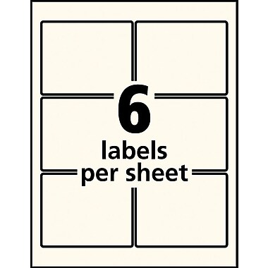 Avery® 22823 Pearlized Rectangular 3x3 Labels