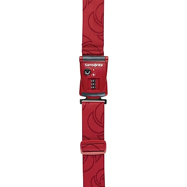 Samsonite Travel Sentry 3-Dial Combo Luggage Strap, Red