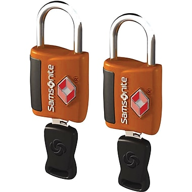 Samsonite Travel Sentry Key Lock, Orange, 2/Pack