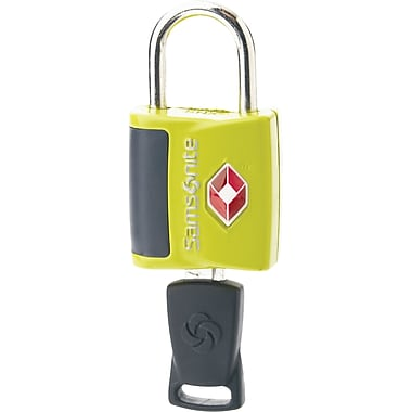 Samsonite Travel Sentry Key Lock, Neon Green, 2/Pack
