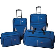 American Tourister Fieldbrook 4 Piece Softside Luggage Set, Colbalt Blue