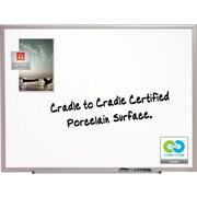 Quartet® DuraMax® Porcelain Dry-Erase Board with Aluminum Frame, 3' x 2'