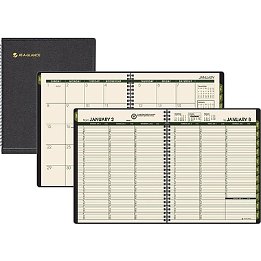 2014 AT-A-GLANCE® Recycled Weekly/Monthly Appointment Book, 6 7/8in. x 8 3/4in.