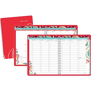 2014 AT-A-GLANCE® Playful Paisley Professional Weekly/Monthly Appointment Book, 8 1/2in. x 11in.
