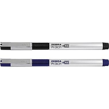 Zebra R-301 Refillable Stainless Steel Rollerball Pens, Medium