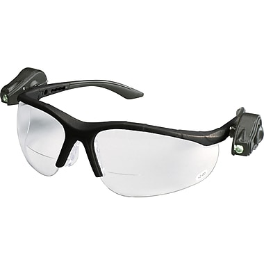 3M Light Vision 2 Eyewear, Clear Anti-Fog Lens, Gray Frame, Lights