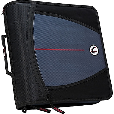 Case•it D-146 Black 3in. Zipper Binder with Tab File