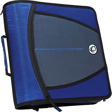 Case•it D-146 Blue 3in. Zipper Binder with Tab File
