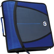Case-it 3-Inch Round 3-Ring Zipper Binder, Blue (D-146-Blue)