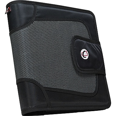 Case•it S-816 2in. Black Binder with Built-in Expandable File