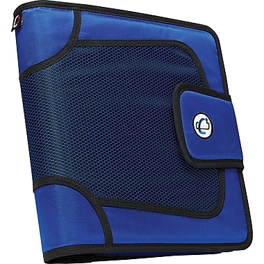 Case•it S-816 2in. Blue Binder with Built-in Expandable File