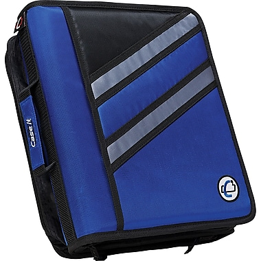 Case•it Z-176 Blue 1 1/2in. 2in1 Dual Binder, 2 Rings