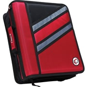 Case•it Z-176  1 1/2 Red 2-in-1 Zipper Binder