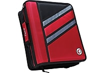 Case•it Z-176 1 1/2' Red 2-in-1 Zipper Binder