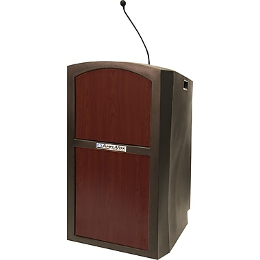 Amplivox Pinnacle Full Height Wireless Sound Lectern (Mahogany)