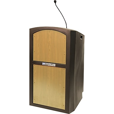 Amplivox Pinnacle Full Height Wireless Sound Lectern (Maple)