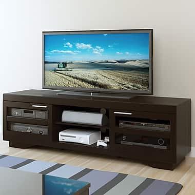 Sonax® Granville 66in. Wood/Veneer TV Bench, Mocha Black