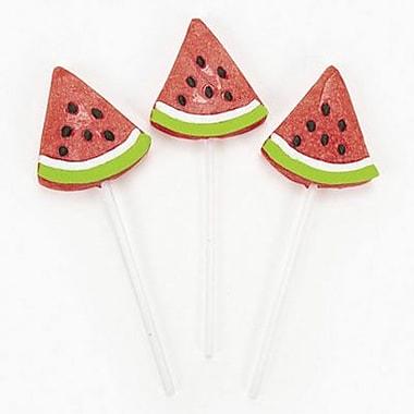 Frosted Watermelon Wedge Pops, 12 Lollipops/Box