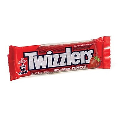 Strawberry Twizzlers, 2.5 oz. Packs, 36 Packs/Box