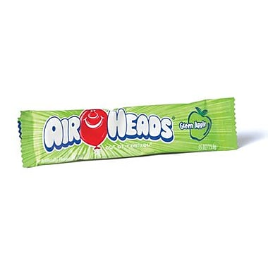 Airheads Green Apple Bar, 0.55 oz. Bar, 36 Bars/Box