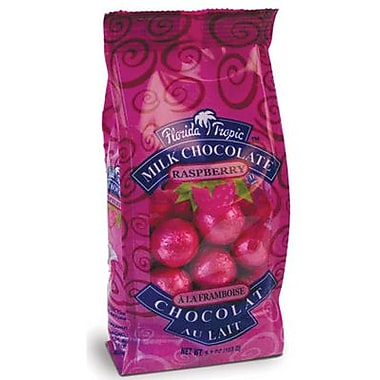 Florida Tropics Milk Chocolate Mini Foiled Raspberry Balls, 5.3 oz. Bag