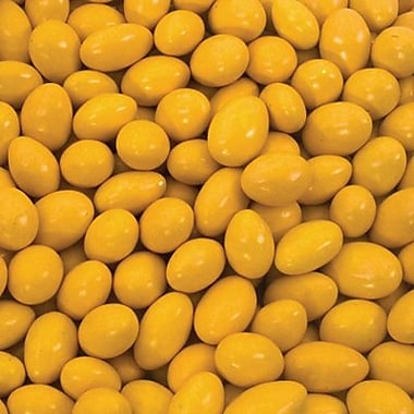 Jordan Almonds Yellow, 5 lb. Bulk