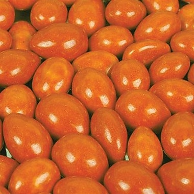 Jordan Almonds Orange, 5 lb. Bulk