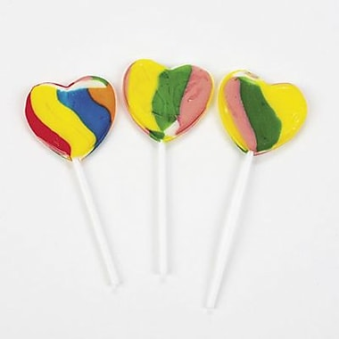 Rainbow Heart Pop, 12 Lollipops/Box