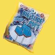 Big Slice Blue Raspberry Pops, 48 Lollipops/Bag