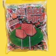 Big Slice Peach Pops, 48 Lollipops/Bag