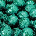 Birnn Dark Chocolate Truffles, Green Foil, 1 lb. Bulk