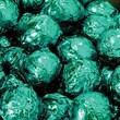 Birnn Dark Chocolate Truffles, Green Foil, 1 lb. Bulk