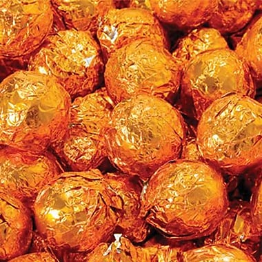 Birnn Dark Chocolate Orange Truffles, Orange Foil, 1 lb. Bulk