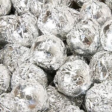 Birnn Dark Chocolate Truffles, Silver Foil, 1 lb. Bulk