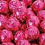Birnn Dark Chocolate Raspberry Truffles, Fuchsia Foil, 1
