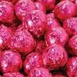 Birnn Dark Chocolate Raspberry Truffles, Fuchsia Foil, 1 lb. Bulk