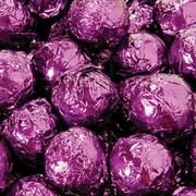 Birnn Milk Chocolate Amaretto Truffles, Purple Foil, 1 lb. Bulk