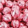 Birnn Milk Chocolate Champagne Truffles, Pink Foil, 1 lb. Bulk